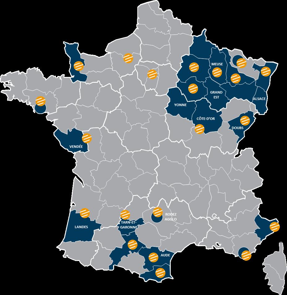 Carte réseaux THD Altitude Infra